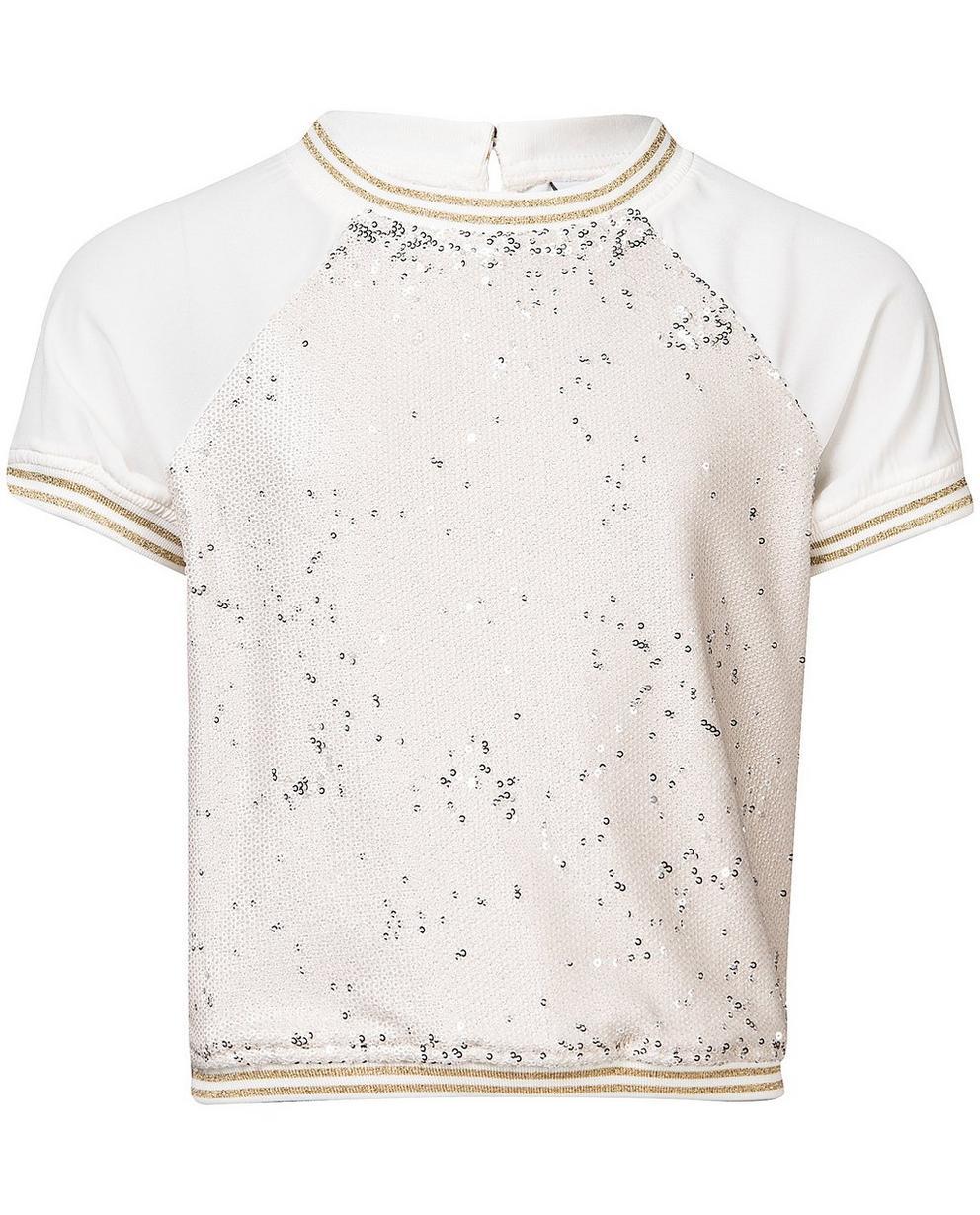 Hemden - Weiss - T-Shirt mit Pailletten